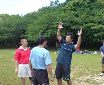 浅野選手に指導されてる和田先生①
